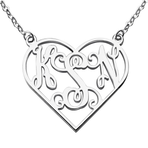 Collier Monogramme-3 Initials-Argent